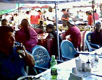Eating at the Farmer's Market in Guadalupe