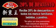 20% de Descuento en Don Wang Restaurante